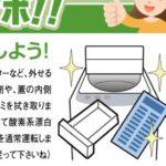 洗濯機「を」大掃除?